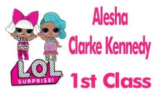 Personalised LOL Dolls School Book Stickers